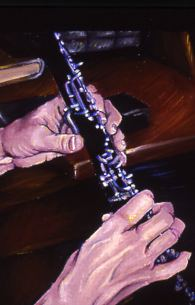 Oboe Hands: Painting by Kelsey Mitchell, 2003
